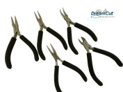 5 Piece Professional Jewellery Pliers Jewellers Beading Tool