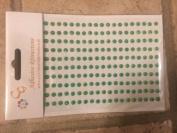 CraftbuddyUS CB002 200 x 4mm Self Adhesive AB DARK GREEN DIAMANTE Stick on Gems Rhinestones BLING