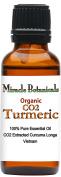 Miracle Botanicals Organic CO2 Extracted Turmeric Essential Oil - 100% Pure Curcuma Longa - Therapeutic Grade - 30ml