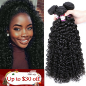 8A Brazilian Virgin Curly Hair 3 Bundles (12 14 41cm ) Remy Hair Extensions Natural Colour Brazilian Kinkys Curly Hair Real Human Hair Weave