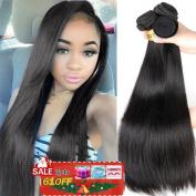QTHAIR 8A Indian Virgin Hair Straight 50cm 50cm 60cm 100% Unprocessed Indian Straight Virgin Hair Extension Weaves Natural Black
