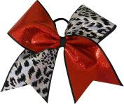 SBC Hologram Cheetah Tick Tock Cheer Bow