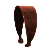 Black Strokes 5.1cm Headband Hair Band with Teeth