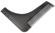 Facial Hair Shaping Beard Comb By ABeauty with Black Colour 1pcs Plastic Beard Gromming kit For Beard Sexy Man