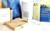 "Mountain Fresh Soaps ""Invigorating"" GIFT SET ~ Artisan, Organic, & All-Natural Soap, Lotion, Lip Balm, & Bath Salt"