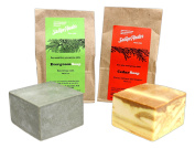 Sallye Ander Bundle of 2 100% Handmade, Hypoallergenic Bar Soap