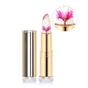 Htgtai Jelly Flower Lipstick Translucent Moisturiser lipsticks Lips Care Surplus Bright Lip Balm-Barbie Doll Powder Pink