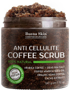 Anti Cellulite Coffee Scrub 100% Natural With Organic Coffee, Coconut and Shea Butter, Powerful Remedy For Stretch Marks, Varicose Veins, Eczema and Acne 350ml
