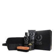 Zeus Deluxe Beard Care Dopp Kit - Men's Travel Beard Grooming Set with Toiletry Bag! (Scent