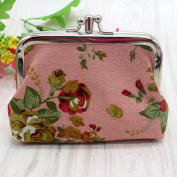 Misaky Lady Retro Vintage Mini Wallet Card Holder Coin Purse Bag