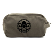 Hydra logo Canvas Dual Two Compartment Travel Toiletry Dopp Kit Bag