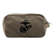 U.S. Marine Corps Semper Fidelis Dual Two Compartment Toiletry Dopp Kit Bag
