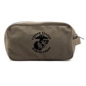 United States Marine Corps Dual Two Compartment Travel Toiletry Dopp Kit Bag