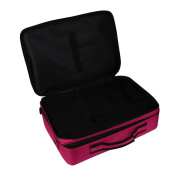 DEESEE(TM) Cosmetic Beauty Queen Three Portable Professional Makeup Cosmetics Cases Toolbox