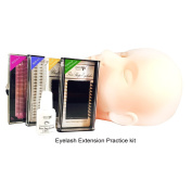 Volume Lash Extensions Practise Kit with Mannequin Training Head