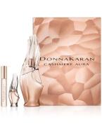 Donna Karan Cashmere Aura 3 Piece Gift Set 3.4  Eau De Parfum   .34 Rollerball + .17  Eau De Parfum