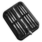 HHR Blackhead Whitehead Remover Kit, 7 PCS Blemish Extractor Tool, Stainless Steel Acne Removal kit for Men and Women