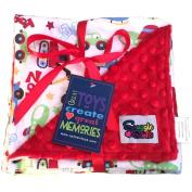Reversible Unisex Children's Soft Baby Blanket Minky Dot (Choose Colour)