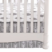 Woodland (White Arrows on Grey) Crib Skirt