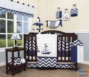 Boutique Baby Nautical Explorer 13 Piece Nursery CRIB BEDDING SET