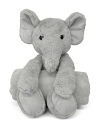 Little Starter Baby Elephant Plush and Blanket Set, Grey