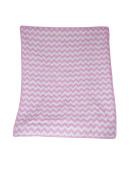 Baby Doll Bedding Chevron Crib Comforter, Pink