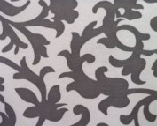 Portable Baby Changing Pad / Nappies Station   Fleur De Lis Grey Pattern