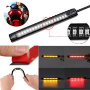 Tuscom@ Universal Flexible 18 LED Motorcycle ATV Tail Brake Stop Turn Signal Strip Light