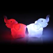 ZIYUO 2Pcs Colour Changing Elephant LED Night Light Lamp Home Decor