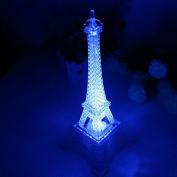 Fashionclubs 7 Colour Changing Acrylic Eiffel Tower Led Night Light Decoration Desk Lamp,20cm