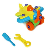 Dazzling Toys Construct a Vehicle Set Including Take-Apart and Assemble Aeroplane and Tools.