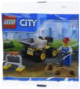 LEGO City Mini Dump Truck Vehicle and Construction Worker Minifigure Toy Set 30348