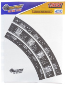 Inroad Toys Curves, RR Track Classic Road Series Sticker Sheet, 5.1cm , Black