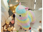 Stuffed Short Plush Shaped Rainbow Mud horse prairie Neck Large Pillow Cushions Nap Doll Home Essential