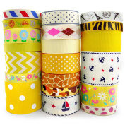 Smart Buy Grosgrain Ribbon for Craft Cartoon Yellow Theme Mixed Colours 20 Yards Contains 20 Different 1 Yard Ribbon