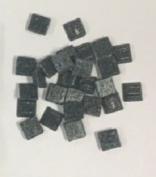 "Hakatai Glass Tile 3/8"" - B 75 Aquamarine - 0.2kg bag - 10mm glass tile"
