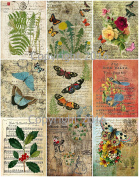 Assorted Vintage Ephemera Vintage Label Images #7 on Collage Sheet for Photo Art, Scrapbooking, Collage, Decoupage
