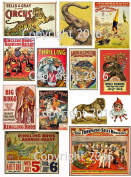 Victorian Vintage Circus Images #102 Collage Sheet 22cm x 28cm