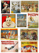 Victorian Vintage Circus Images #101 Collage Sheet 22cm x 28cm