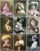 Victorian Children Photo Collage #102 Collage Sheet