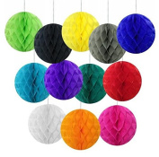 """Since 2""""(5cm) Pack of 40 Small Decorative Tissue Paper Honeycomb Balls Assorted Colours Tissue Paper Flower Ball - Birthday Decoration, Wedding Decor, Party Decor"""