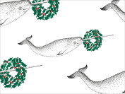Narwhal Whale Wreath Wrapping Paper