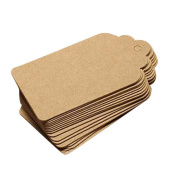 Rely2016 Blank Scallops Kraft Paper DIY Hand Draw Tags Card Labels for Message, Luggage, Baking, Wedding Note- 100Pcs