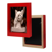 Hunputa 13cm ×13cm Picture Frame Home Fun Wood Photo Frame Collage Photo Frame for Wall
