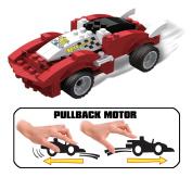 UniBlock Pullback Building Block Car - 73 pc