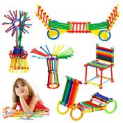 Night Lions Tech(TM)Sticks Building Blocks-Creative DIY Magic Sticks Building Blocks Toy Set