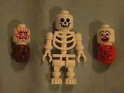 Lego Halloween Minifigure Skeleton with 5 interchangeable heads