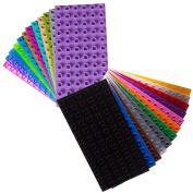 Premium Big Briks 24 Colour 19cm x 9.5cm Baseplate Set -24 Pack (Big LEGO DUPLO Compatible) - Large Pegs