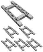 "LEGO Technic NEW 6 pcs CHASSIS FRAME LIFTARM Beam Studless 5x11 ""H"" Shape Part Piece Mindstorms ev3 NXT robot structure element vehicle car truck"