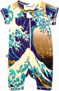 """Inchworm Alley - """"Great Wave, Hokusai"""" Unisex Baby Onesie Romper, 100% Organic Cotton"""